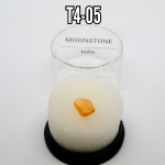 Moonstone  natural mineral/gemstone specimens in display box